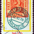 "GERMANY - CIRCA 1978: A stamp printed in Germany from the ""Stamp Day and World Philatelic Movement"" issue shows an old 3pf. stamp of Saxony from 1850, circa 1978. — Photo"