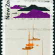 NEW ZEALAND CIRCA 1970: A stamp printed in New Zealand shows hauraki Gulf Maritime Park, circa 1970. - Stock Photo