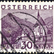 AUSTRIA - CIRCA 1929: A stamp printed in Austria shows Seewiesen, circa 1929. - Stock Photo
