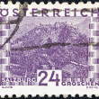 Stock Photo: AUSTRIA - CIRCA 1929: A stamp printed in Austria shows Salzburg, circa 1929.