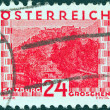 AUSTRIA - CIRCA 1929: A stamp printed in Austria showing Salzburg, circa 1929. - Stock Photo