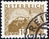 AUSTRIA - CIRCA 1929: A stamp printed in Austria shows Gussing, circa 1929. — Foto Stock