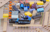 Group of various electronic components — Stock Photo