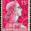 FRANCE - CIRCA 1955: A stamp printed in France shows Marianne (Louis-Charles Muller design), circa 1955. — Stock Photo