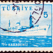 Stock Photo: TURKEY - CIRCA 1959: A stamp printed in Turkey shows liner Karadeniz, circa 1959.