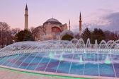 Hagia Sophia at sunset, Istanbul, Turkey — Stock Photo