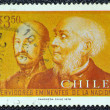 Stock Photo: CHILE - CIRC1978: stamp printed in Chile shows Bernardo and Rodulfo Philippi, circ1978.