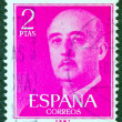 SPAIN - CIRCA 1955: A stamp printed in Spain shows a portrait of Francisco Franco, circa 1955. — Stock Photo