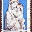 "USA - CIRCA 1985: A stamp printed in USA, issued for Christmas shows ""Genoa Madonna"" sculpture by Luca della Robbia, located in the Detroit Institute of Arts, circa 1985. — Stock Photo"
