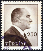 TURKEY - CIRCA 1959: A stamp printed in Turkey shows a portrait of Kemal Ataturk, circa 1959. — Stock Photo