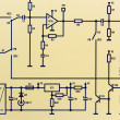 Part of an electronic circuit diagram — Stock Photo