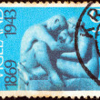 "NORWAY - CIRCA 1969: A stamp printed in Norway issued for the Birth Centenary of Gustav Vigeland (sculptor) shows ""Family"" (sculpture), circa 1969. - Stock Photo"