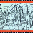 GERMANY - CIRCA 1971: A stamp printed in Germany from the &quot;Tourism&quot; issue shows Nuremburg, circa 1971. - Stock Photo