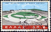 GREECE - CIRCA 1965: A stamp printed in Greece issued for the 24th Balkan Games, Athens shows Karaiskakis Stadium, Athens, circa 1965. — Stock Photo