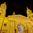 Saint Stephen basilica night view, Budapest, Hungary — Stock Photo #21525909