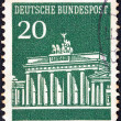 GERMANY - CIRCA 1966: A stamp printed in Germany shows Brandenburg Gate, Berlin, circa 1966. — Stock Photo #21893673