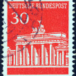 GERMANY - CIRCA 1966: A stamp printed in Germany shows Brandenburg Gate, Berlin, circa 1966. — Stock Photo #21893721