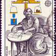 "GREECE - CIRCA 1983: A stamp printed in Greece from the ""Europa"" issue shows ancient Greek mathematician and physicist Archimedes of Syracuse, circa 1983. — Stock Photo"