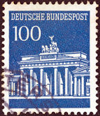 GERMANY - CIRCA 1966: A stamp printed in Germany shows Brandenburg Gate, Berlin, circa 1966. — Stock Photo