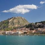 ������, ������: Nafplio town and Palamidi castle Greece