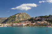 Nafplio town and Palamidi castle, Greece — Stock Photo