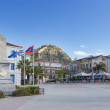 Square of the Philhellenes with Palamidi fortress in background, Nafplio, Greece — Stock Photo #22098851