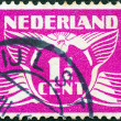 Stock Photo: NETHERLANDS - CIRC1924: stamp printed in Netherlands shows it's value, circ1924.