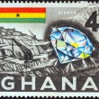 Stock Photo: GHAN- CIRC1959: stamp printed in Ghanshows diamond and mine, circ1959.