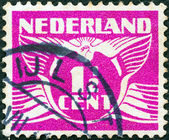 NETHERLANDS - CIRCA 1924: A stamp printed in the Netherlands shows it's value, circa 1924. — Stock Photo