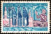 TUNISIA - CIRCA 1959: A stamp printed in Tunisia shows Djerba island, circa 1959. — Stock Photo