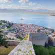 View of Nafplio town from Palamidi fortress, Peloponnese , Greece — Stock Photo