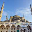 Blue mosque (Sultan Ahmed Mosque), Istanbul, Turkey - Stock Photo