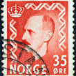 NORWAY - CIRCA 1950: A stamp printed in Norway shows King Haakon VII, circa 1950. — Stock Photo