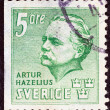 SWEDEN - CIRC1941: stamp printed in Sweden shows founder of Skansen Museum, Artur Hazelius, circ1941. — Stock Photo #23522617