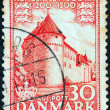"DENMARK - CIRCA 1953: A stamp printed in Denmark from the ""1.000 years of Danish Kingdom"" issue shows Nyborg Castle, circa 1953. — Stock Photo"
