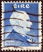 "IRELAND - CIRCA 1957: A stamp printed in Ireland from the ""Birth Centenary of John Redmond"" issue shows politician John Redmond, circa 1957. — Stock Photo"