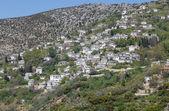 вид живописной деревне макриница, pelio, греция — Стоковое фото