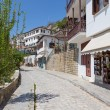 Alley in the picturesque village of Makrinitsa, Pelio, Greece — Stock Photo
