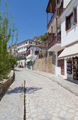 Aleja w malowniczej miejscowości pelio, makrinítsa, grecja — Zdjęcie stockowe