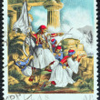 "GREECE - CIRCA 1971: A stamp printed in Greece from the ""150th Anniversary of War of Independence (4th issue). The War on Land"" shows the Battle of Corinth(1822) by Krazeisen, circa 1971. — Stock Photo #24565873"