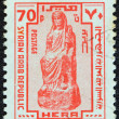 SYRI- CIRC1976: stamp printed in Syrishows ancient Statue of goddess Hera, circ1976. — Stock Photo #24565887