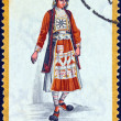 """GREECE - CIRCA 1973: A stamp printed in Greece from the """"Traditional Greek Costumes 2nd part"""" issue shows a woman from Epirus (Souli), circa 1973. — Stock Photo #24565931"""