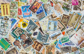 Collection of various stamps background — Stock Photo