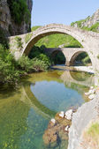 Old stone bridge of Noutsos (built 1750 AD), Epirus, Greece — Stock Photo