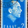 "GREECE - CIRC1964: stamp printed in Greece from ""Death of Paul I"" issue shows King Paul of Greece, circ1964. — Foto de stock #25193953"