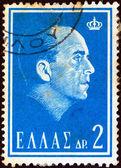 """ギリシャ - 1964 年頃: スタンプ印刷からギリシャで、""""ポールの死私は""""問題 1964 年頃、ギリシャの王ポールを示しています. — ストック写真"""