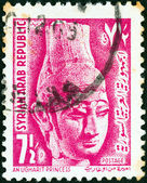 SYRIA - CIRCA 1964: A stamp printed in Syria shows Ugharit Princess, circa 1964. — Stock Photo