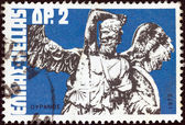 "GREECE - CIRCA 1972: A stamp printed in Greece from the ""Greek Mythology. Museum Pieces (1st series)"" issue shows Uranus (altar piece), circa 1972. — Stock Photo"