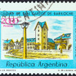 Stock Photo: ARGENTIN- CIRC1977: stamp printed in Argentinshows Civic Centre, Bariloche, circ1977.