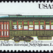 "US- CIRC1983: stamp printed in USfrom ""Streetcars"" issue shows St. Charles streetcar, New Orleans, 1923, circ1983. — Stock Photo #25602523"